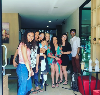 Thai family at The Peaberry hotel