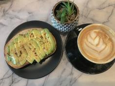 Avocado Toast & Vanilla Latte