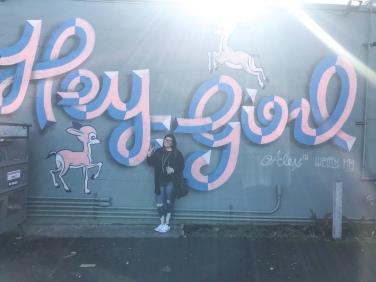 Loved this cute mural!